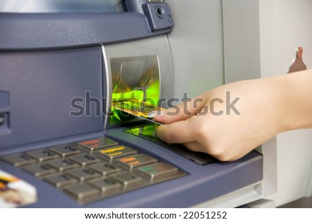 Hand holding credit cards. - stock photo