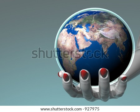 Hand holding Earth_Europe - Africa