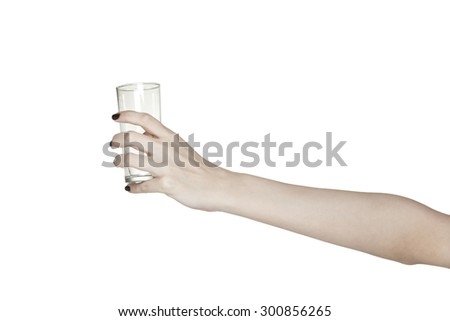 hand holding empty glass