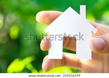 hand holding icon house, my dream house concept  - stock photo