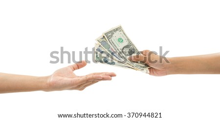 hand holding money (financial concept)