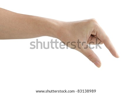 hand holding something - stock photo