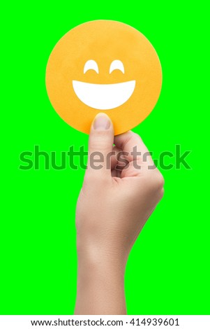 hand holding the smile icon