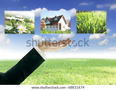 hand home business - stock photo