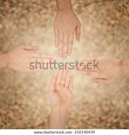 hand human random risk strange for top below  - stock photo