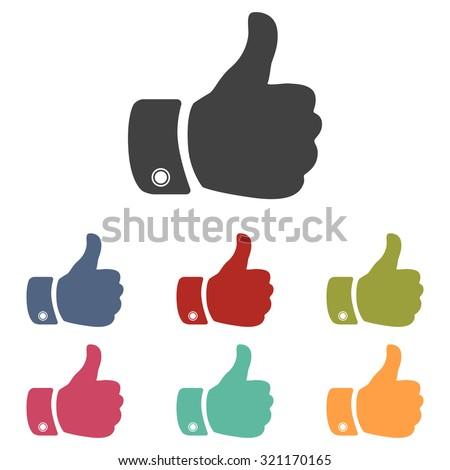 Hand icon - stock photo