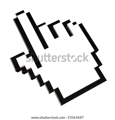 Hand icon - with clipping path - stock photo