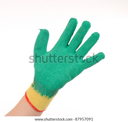 Garden Gloves Isolated Stock Photos Royalty Free Images Vectors