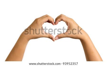 hand in love shape - stock photo