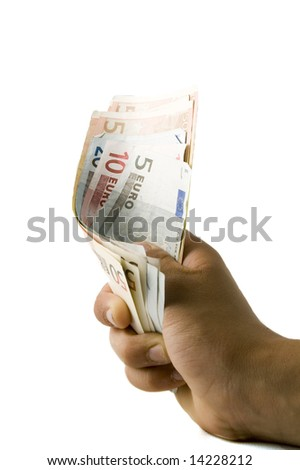 hand is holding money