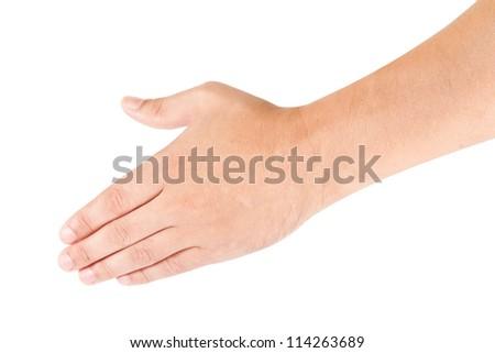 hand isolated on white background - stock photo