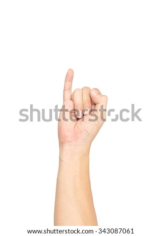Hand isolated on white background with clipping path