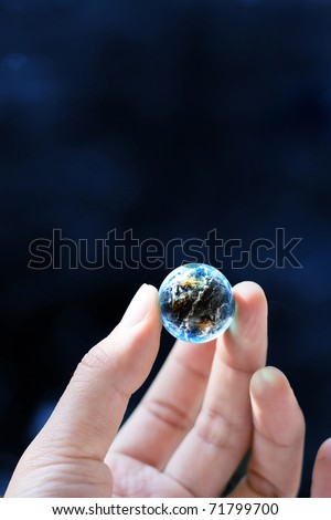 hand keep the world - stock photo