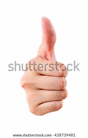 Hand like isolated on background. use clipping path