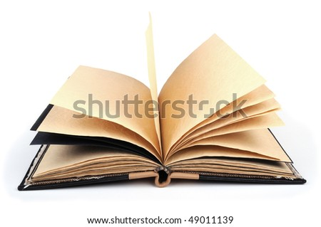 hand made book - stock photo
