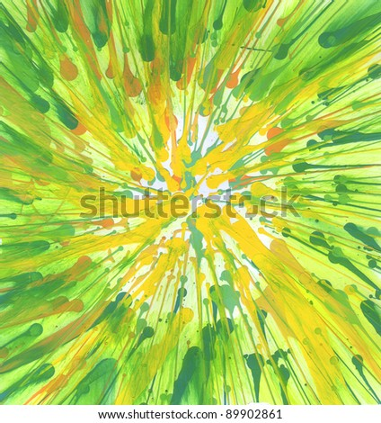 Hand made bright color art picture. Abstract background - stock photo