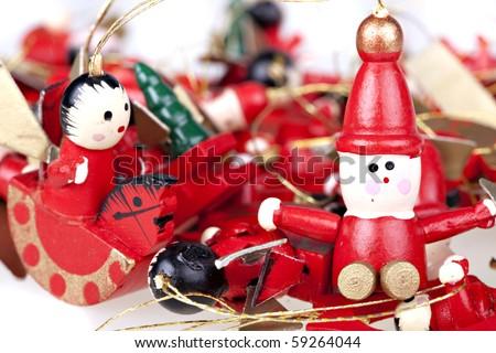 hand made Christmas fairy dolls - stock photo