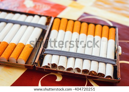 hand made cigarettes, close up