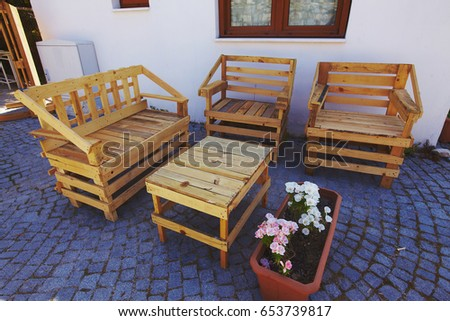 Hand Made Garden Furniture Made From Pallets