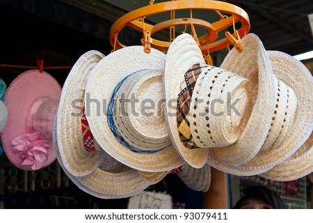 Hand-made hats. - stock photo
