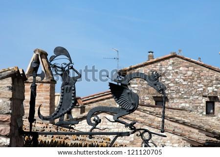 Hand made of iron Dragon - stock photo