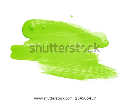 Hand made oil paint brush stroke isolated over the white background as a design element of a backdrop - stock photo