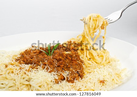 Hand made pasta - stock photo