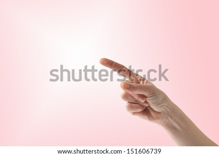 Hand making a sign to pay attention - stock photo