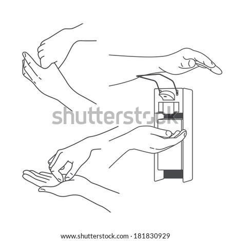 Hand massage and treatment set - stock photo