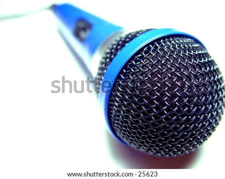 Hand me the Mic - stock photo