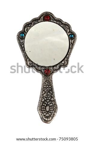 Hand mirror - stock photo