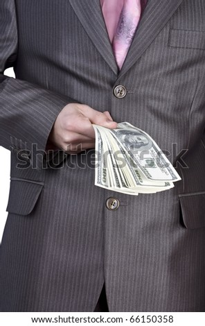 hand money - stock photo