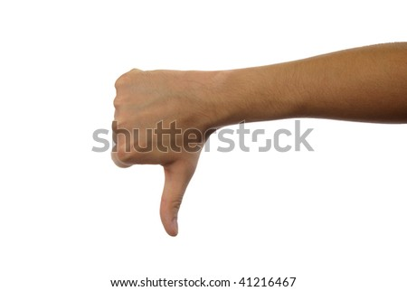 hand - not ok - stock photo