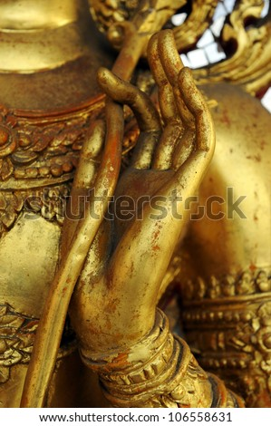 Hand of Buddha - stock photo