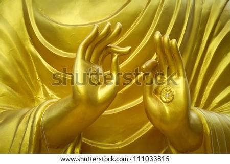 Hand of Buddha. - stock photo