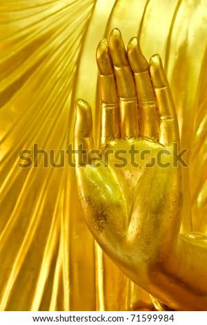 Hand of Buddha image - stock photo