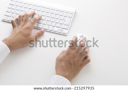 Hand of businessman you click