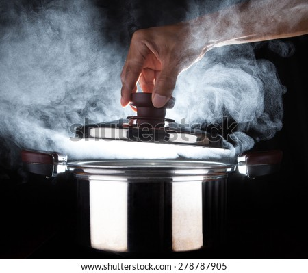 Boiling Water Steam Water Steam Stock Imag...