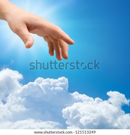 Hand of god - stock photo
