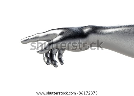 Hand of God on white - stock photo
