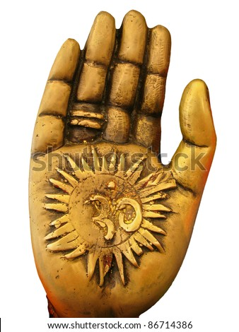 Hand of Hindu God Ganesh - stock photo
