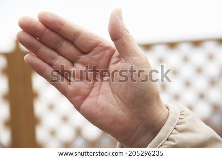 Hand Of Old Man
