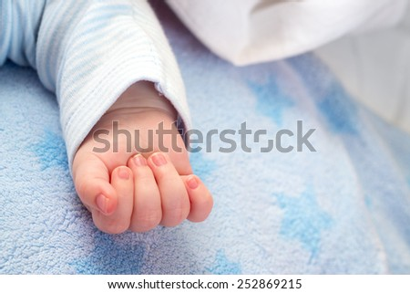 Hand of sleeping baby