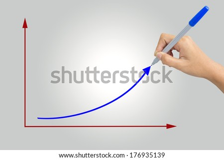 Hand of someone drawing a graph