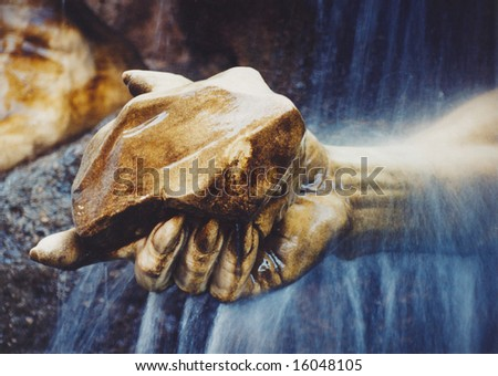 Hand of statue