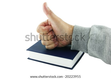 Hand on the book
