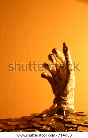 Hand Out of money - stock photo