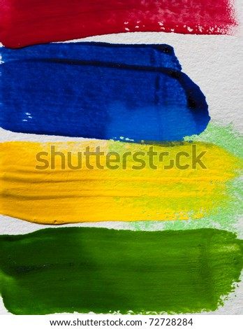 Hand paint color brush texture - stock photo