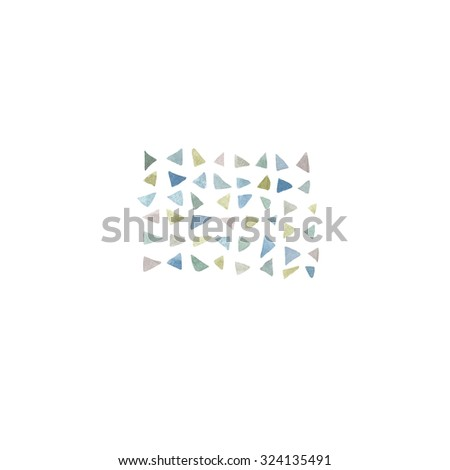 Hand paint watercolor triangle pattern. (Can be used as texture for cards, invitations, DIY projects, web sites or for any other design) - stock photo