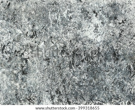 Hand painted acrylic background. Abstract texture. Marble texture. Grey  texture. Black, white, gray. Canvas.  - stock photo